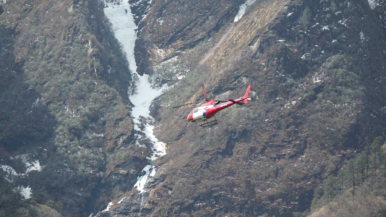 Helicopter to Namche Bazaar