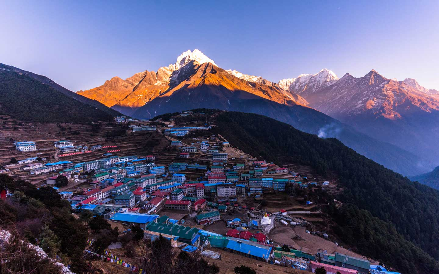 Namche Bazar on the way to everest base camp