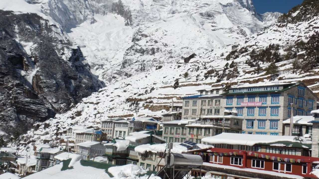 namche in winter